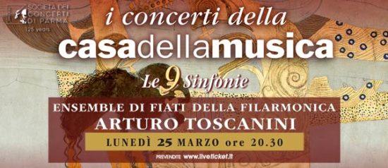 Ensemble Fiati Toscanini alla Casa della Musica a Parma