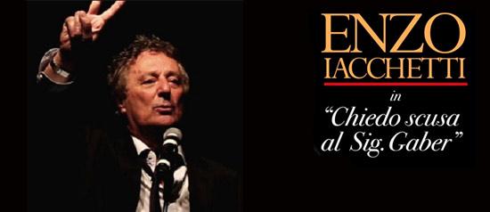 """Enzo Iacchetti """"Chiedo scusa al signor Gaber"""" al Palazzo dei Congressi di Riccione"""
