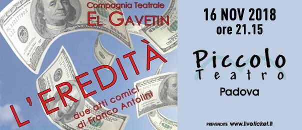 L'eredità al Piccolo Teatro di Padova