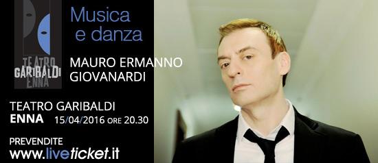 """Mauro Ermanno Giovanardi """"Il Mio Stile"""" Tour al Teatro Garibaldi di Enna"""