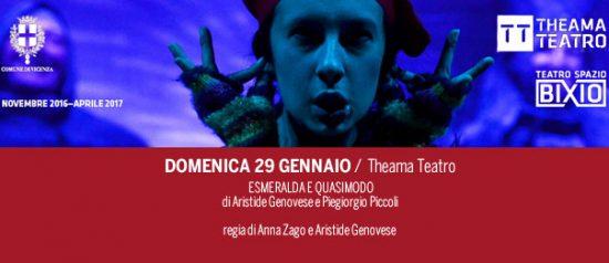 Esmeralda e Quasimodo al Teatro Spazio Bixio di Vicenza