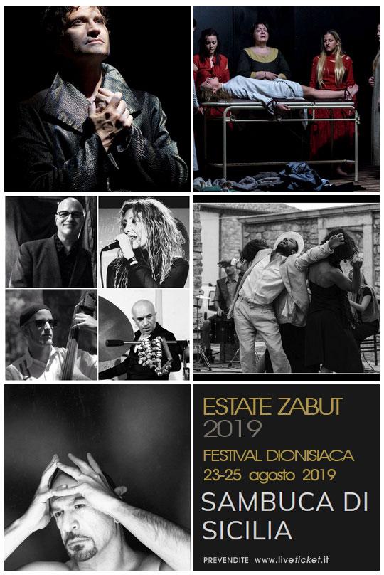Estate Zabut 2019 e Festival Dionisiaca a Sambuca di Sicilia