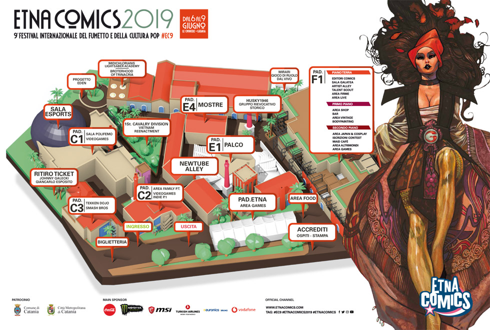 """Etna Comics 2019 """"Festival Internazionale del fumetto e della cultura pop"""" a Catania"""