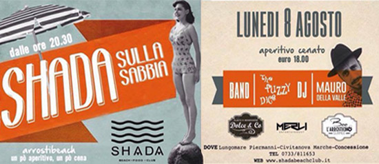 Evento estivo dolce & CO allo Shada Beach Club a Civitanova Marche