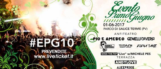 Evento primo giugno a La Buca Parco di Salice Terme