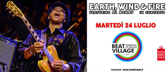 Earth Wind & Fire feat All McKay al Beat Village alla Nuova Darsena di Rimini