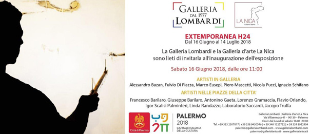 Extemporanea H24 alla Galleria Lombardi / La Nica a Palermo