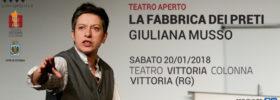 """Giuliana Musso """"La fabbrica dei preti"""" al Teatro Vittoria Colonna a Vittoria"""
