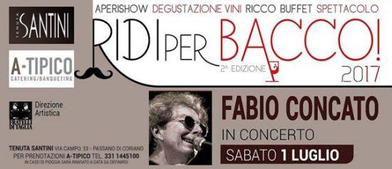 """""""Ridi per Bacco!"""" Fabio Concato in concerto alla Tenuta Santini a Passano di Coriano"""