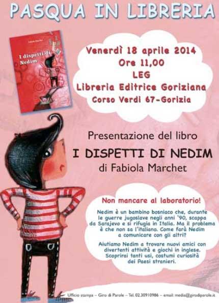 """Presentazione del libro """"I dispetti di Nedim"""" alla Libreria LEG di Gorizia"""