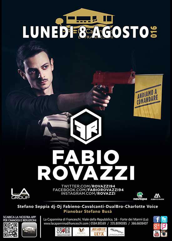 Fabio Rovazzi alla Capannina di Forte dei Marmi
