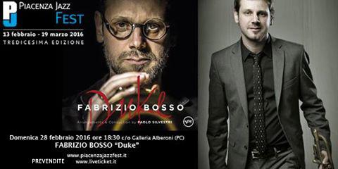 """Fabrizio Bosso """"Duke"""" al Salone degli Arazzi di Piacenza"""