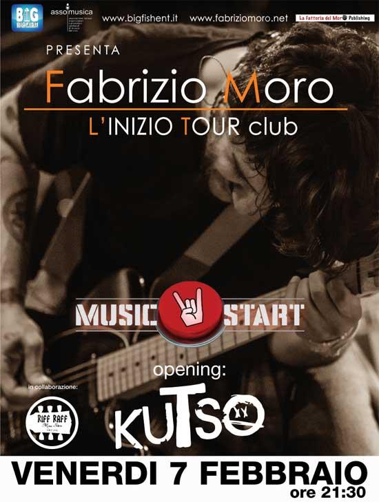 """Fabrizio Moro live """"L'inizio Tour"""" al Jasmine di Nepi"""