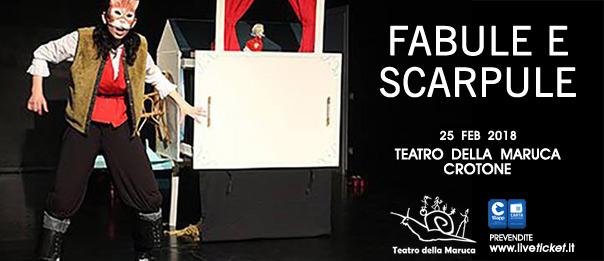 Fabule e Scarpule al Teatro della Maruca a Crotone