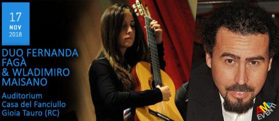 Duo Fernanda Fagà & Wladimiro Maisano all'Auditorium Casa del Fanciullo a Gioia Tauro