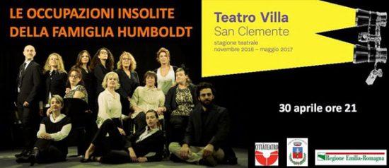 Le occupazioni insolite della famiglia Humboldt al Teatro Giustiniano Villa di San Clemente