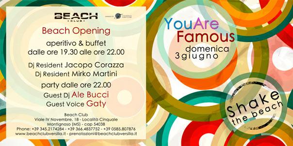 You are Famous al Beach Club Versilia
