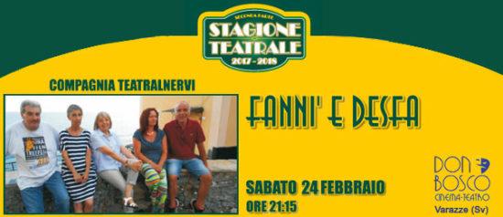 Fanni e desfa al Teatro Don Bosco di Varazze