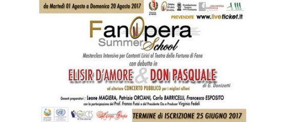 FanOpera Summer School al Teatro della Fortuna a Fano