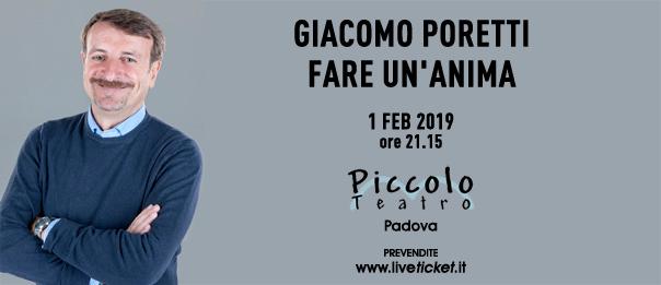 """Giacomo Poretti """"Fare un'anima"""" al Piccolo Teatro di Padova"""