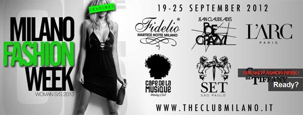 Milano Fashion Week Woman al The Club