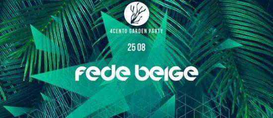 Garden party - Fede Beige al Ristorante 4cento di Milano