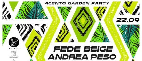 Friday Nite Party - Fede Beige vs Andrea Peso al Ristorante 4cento di Milano