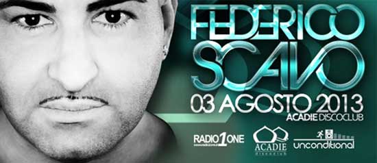 Federico Scavo Unconditional Summer 2013 all'Acadie Club di Scalea