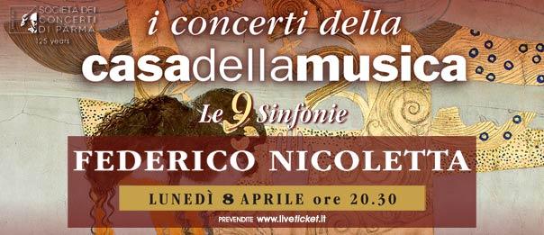 Federico Nicoletta alla Casa della Musica a Parma