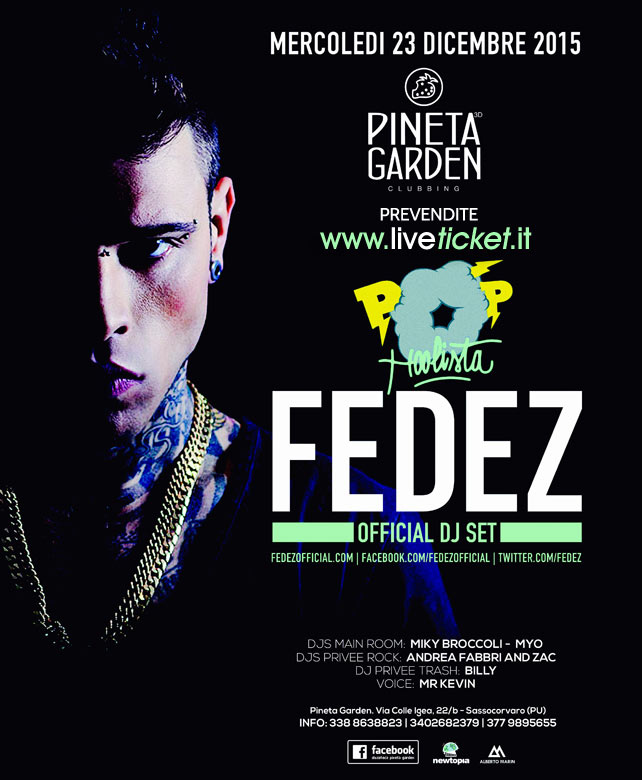FEDEZ Christmas Party al Pineta Garden a Sassocorvaro