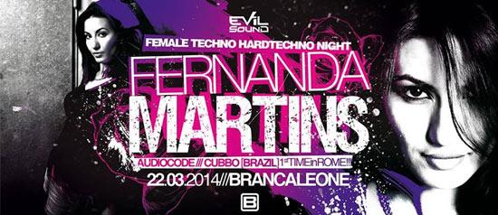 Fernanda Martins al Brancaleone Club di Roma
