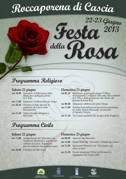 Festa della Rosa a Roccaporena di Cascia