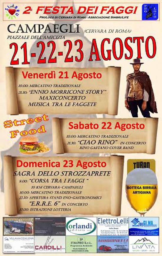 Festa dei Faggi e Sagra dello Strozzaprete a Cervara di Roma