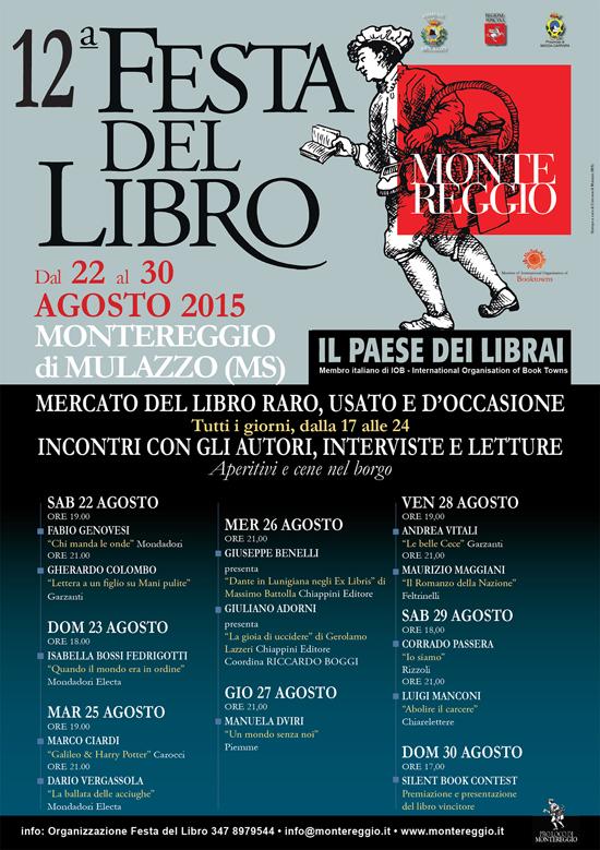 12a Festa del Libro di Montereggio, Paese dei Librai a Montereggio di Mulazzo