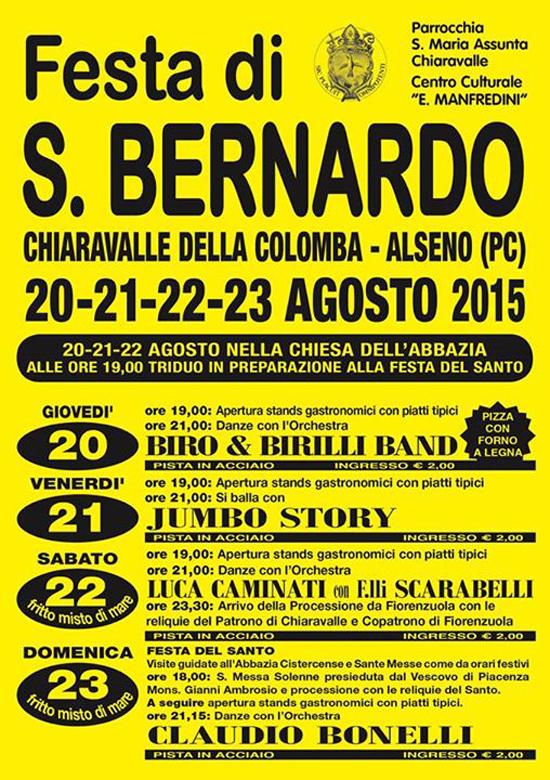 Festa di San Bernardo 2015 a Chiaravalle della Colomba