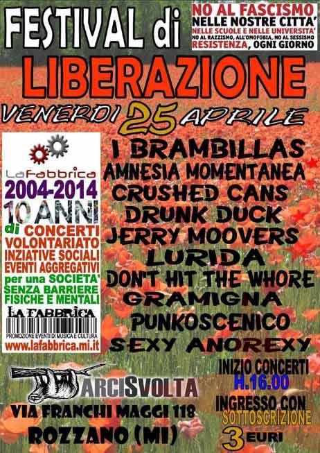 Festival di Liberazione all'Arci Svolta di Rozzano