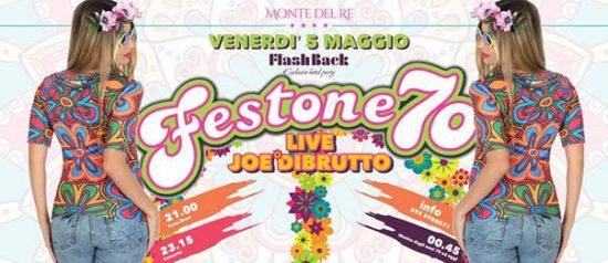 Flashback party - Festone '70 live Joe Dibrutto all'Hotel Monte del Re di Dozza