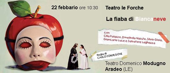 La fiaba di Biancaneve al Teatro Modugno di Aradeo