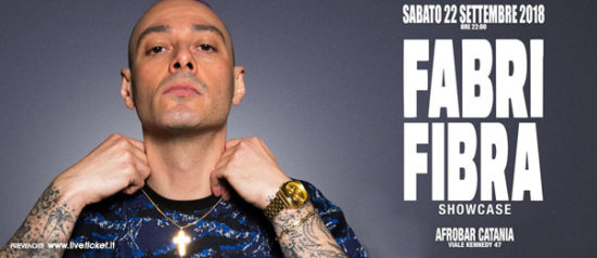 Fabri Fibra Showcase + Afterparty all'Afrobar di Catania