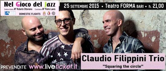 """Filippini Trio """"Squaring the circle"""" al Teatro Forma di Bari"""