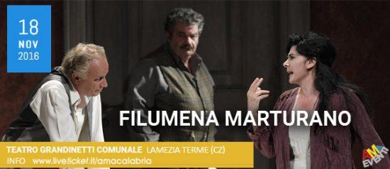 """""""Filumena Marturano"""" al Teatro Comunale Grandinetti di Lamezia Terme"""