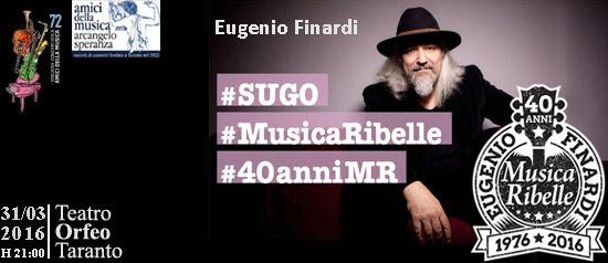 """Eugenio Finardi """"40 anni di Musica Ribelle Tour"""" al Teatro Orfeo di Taranto"""