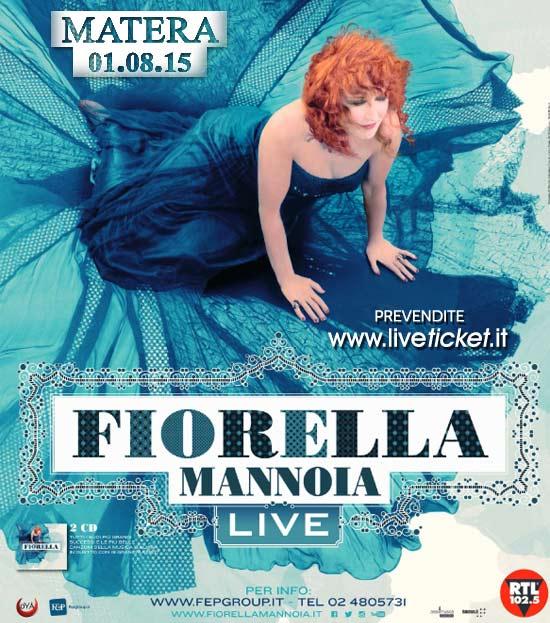 Fiorella Mannoia Live al Parco Castello Tramontano a Matera