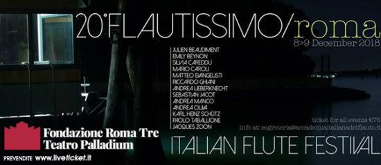 Flautissimo 2018 al Teatro Palladium a Roma