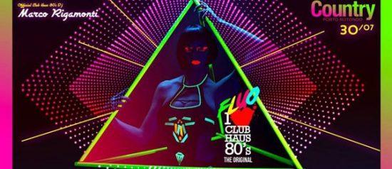 Club haus 80's fluo al Country Club a Porto Rotondo