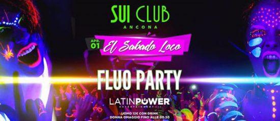 El sabado loco - Fluo party al Sui Club di Ancona