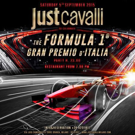Gran premio di Formula 1 Party al Just Cavalli Club di Milano