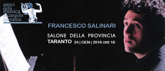 Concerto di Francesco Salinari al Salone della Provincia di Taranto