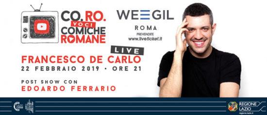 Francesco De Carlo al WEGIL a Roma