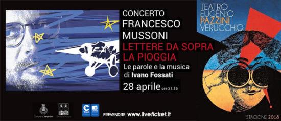 Francesco Mussoni - Lettere da sopra la pioggia al Teatro Pazzini di Verucchio